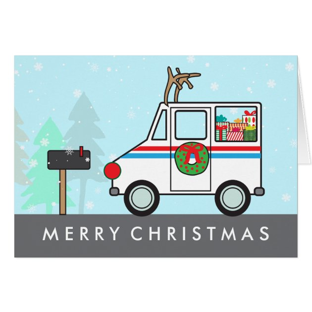 Mailman Mail Lady Christmas Holiday Thank You Card Zazzle