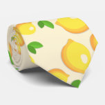 ❤️ Make Lemonade - Sweet Yellow Lemon Print Tie