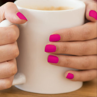 Make Your Own Neon Pink Nail Art Wrap Extensions