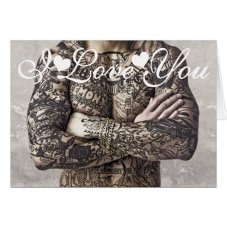 Male Body Tattoo Photo Image I Love You Cards