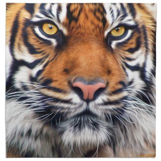 Male Siberian Tiger Napkin