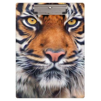 Male Siberian Tiger Paint Photograph Clipboard