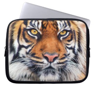 Male Siberian Tiger Paint Photograph Laptop Sleeve