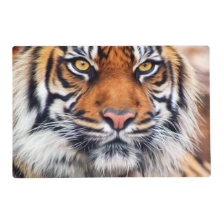 Male Siberian Tiger Paint Photograph Placemat