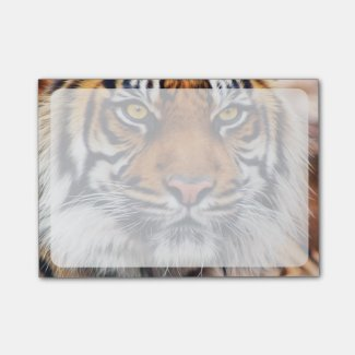 Male Siberian Tiger Paint Photograph Post-it Notes