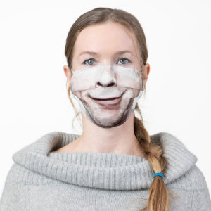 Man Smile Funny Grimace Cloth Face Mask