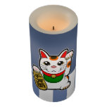 ❤️ Maneki Neko: Japanese Lucky Cat Flameless Candle
