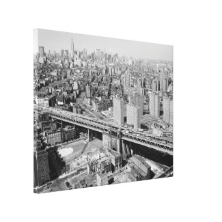 Manhattan Black and White Photograph Canvas Print