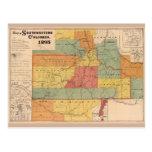 Map of Southwestern Colorado (1893) Postcard