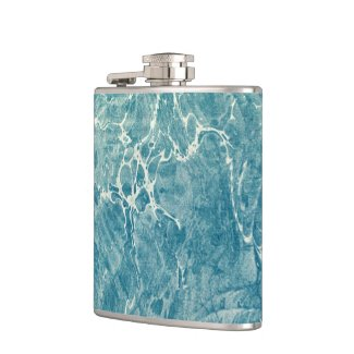 Marbled Blue Flask