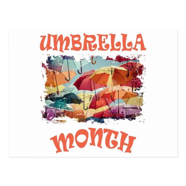 March - Umbrella Month - Appreciation Day Postcard