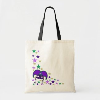 Mardi Gra Mask and Stars Tote Bag bag