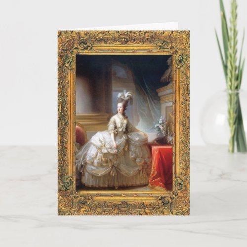 Marie Antoinette Card card