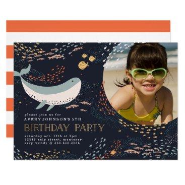 Marine Life Birthday Invitation