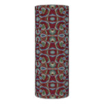 Maroon Blue Mosaic Abstract Pattern Flameless Candle
