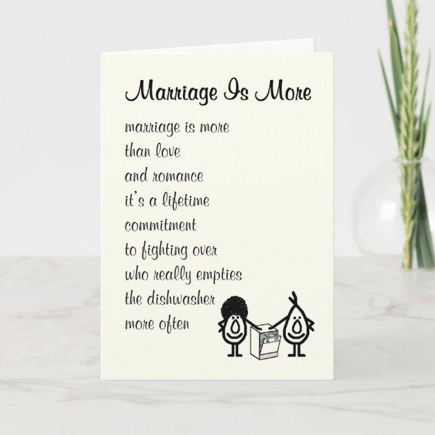 Funny Wedding Anniversary Poem Card