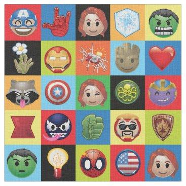 Marvel Emoji Characters Grid Pattern Fabric