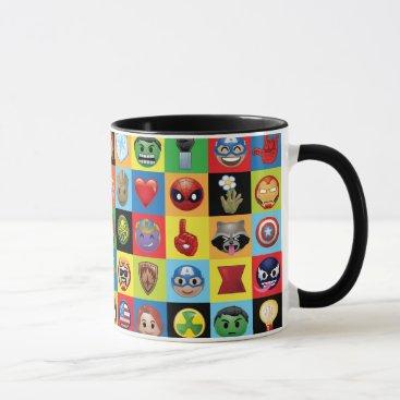 Marvel Emoji Characters Grid Pattern Mug