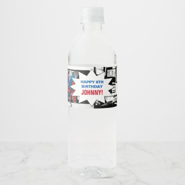 Marvel | Spiderman - Birthday Water Bottle Label