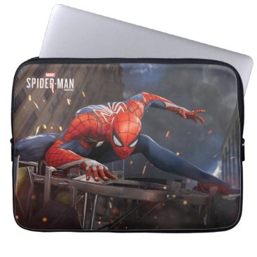 Marvel's Spider-Man | Landing on Webbed Helicopter Laptop Sleeve