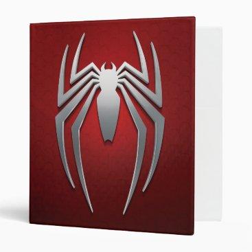Marvel's Spider-Man | Metal Spider Emblem 3 Ring Binder