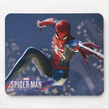 Marvel's Spider-Man | Web Shooting Through city Mouse Pad