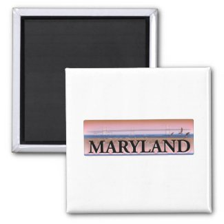 Maryland Chesapeake Bay Scene Refrigerator Magnets