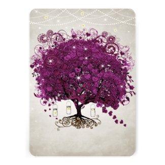 Mason Jar Sangria Heart Leaf Firefly Tree Wedding