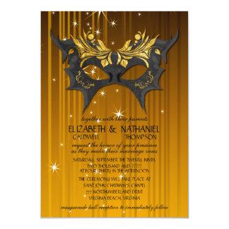 Masquerade Ball Wedding Invitation