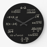Math Geek Round Clocks
