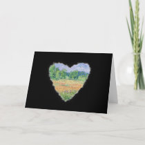Meadow Heart Romance Valentine Love Card