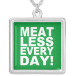 Meatless Everyday Silver Plated Necklace