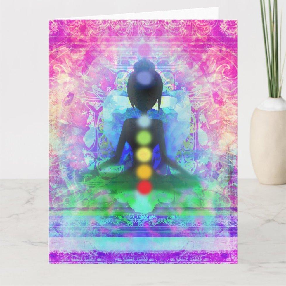 Meditation Yoga Big Greeting Card