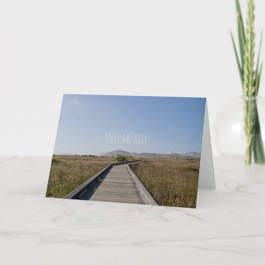 Meet me here card