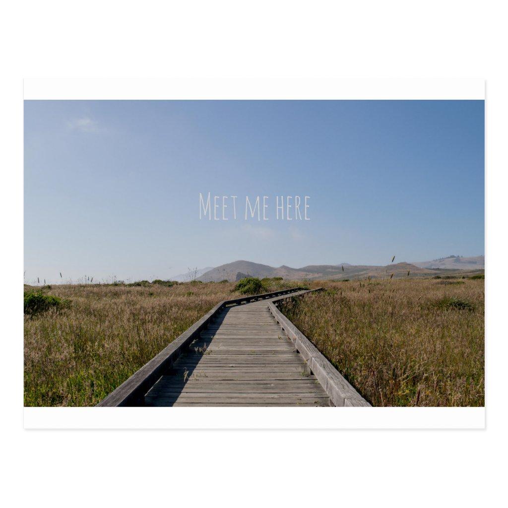 Meet Me Here Postcard