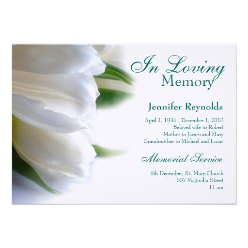 Funeral Invitation Templates 12 free psd vector eps ai format – Funeral Reception Invitation