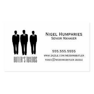 Men In Suits Retail Business Card