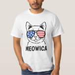 ❤️ Meowica Shirt, Funny Cat, Patriotic, July 4th T-Shirt