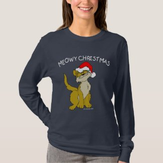 Meowy Christmas Cat T-Shirt