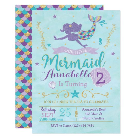 Under Sea Baby Shower Invitations