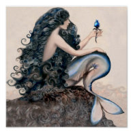 Mermaid Mermaids Fantasy Myth Poster