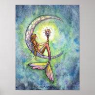Mermaid Poster by Molly Harrison Mermaid Moon