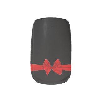 Merry Christmas Bow Minx Nails
