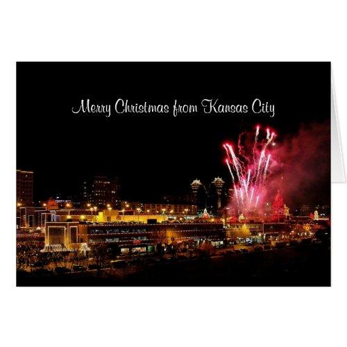 Merry Christmas Fireworks Kansas City Plaza Lights Card