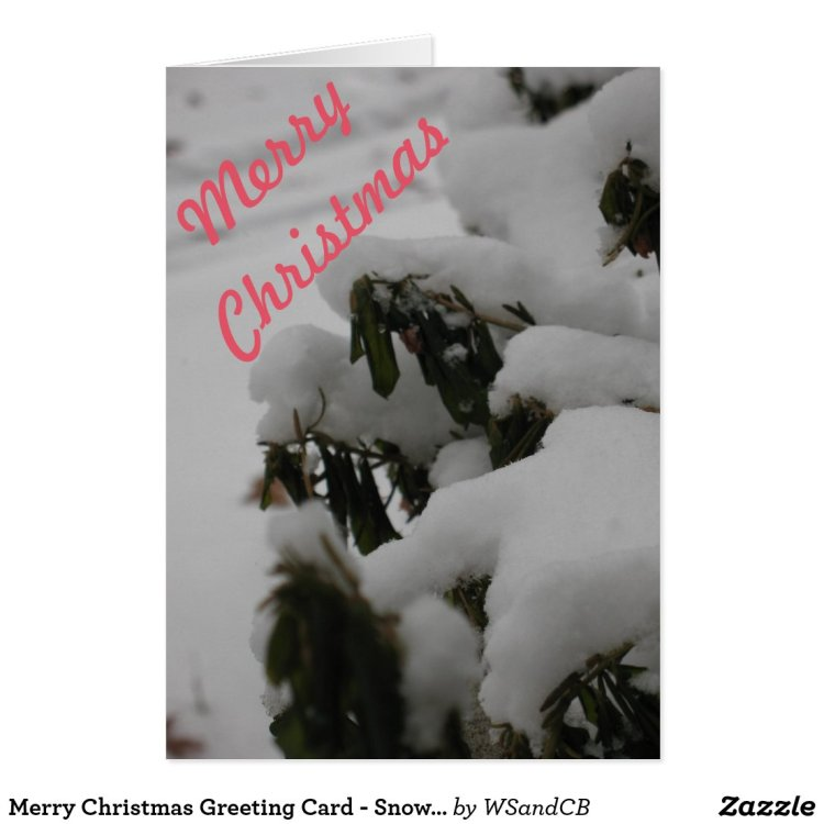 Merry Christmas Greeting Card - Snow Cover