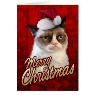 Merry Christmas Grumpy Cat Greeting Cards