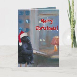 Merry Christmas Monkey card