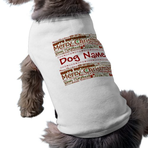Merry Christmas Pet Shirt - Customize w/ Pet Name petshirt