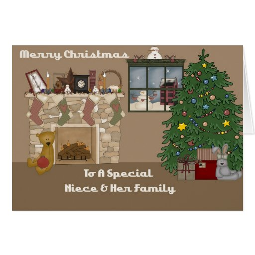 Merry Christmas To A Special Niece Amp Family Card Zazzle