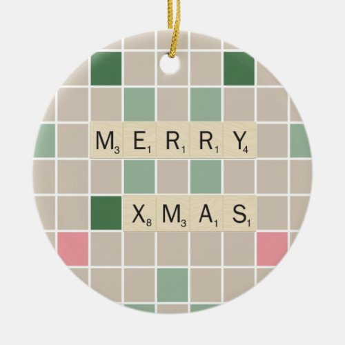 Merry Xmas Ceramic Ornament